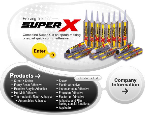Cemedine super X 8008 và Cemedine Super X Series
