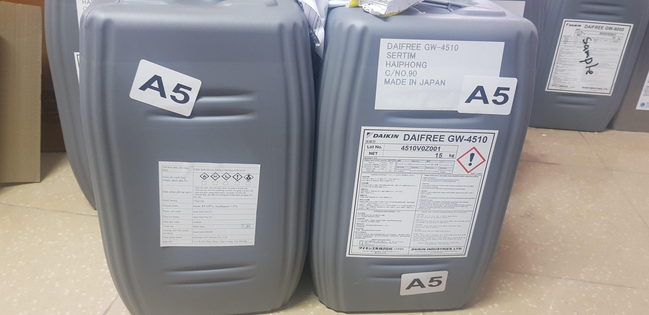 Daikin Daifree GW-4510 chất tách khuôn cao su